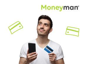 Tarjeta de crédito con Moneyman